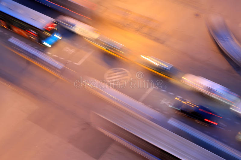 City traffic at night. In china royalty free stock photos