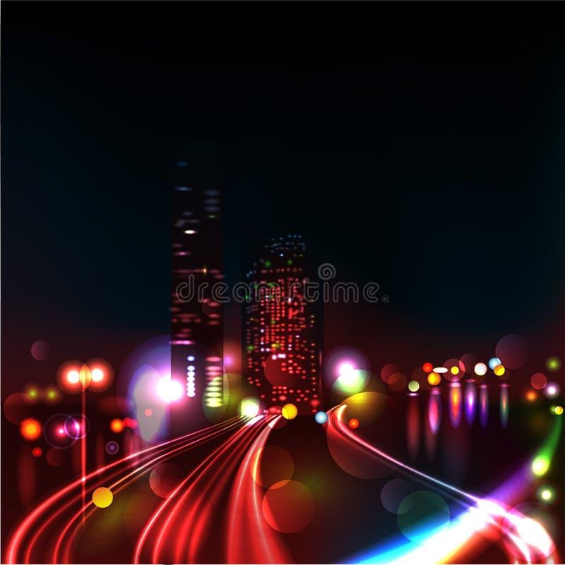 Download CITY TRAFFIC AT NIGHT stock vector. Image of black, lamp - 27622132