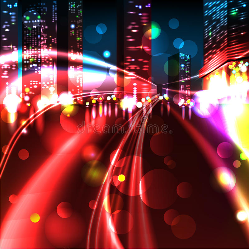 Download CITY TRAFFIC AT NIGHT Stock Images - Image: 27627204