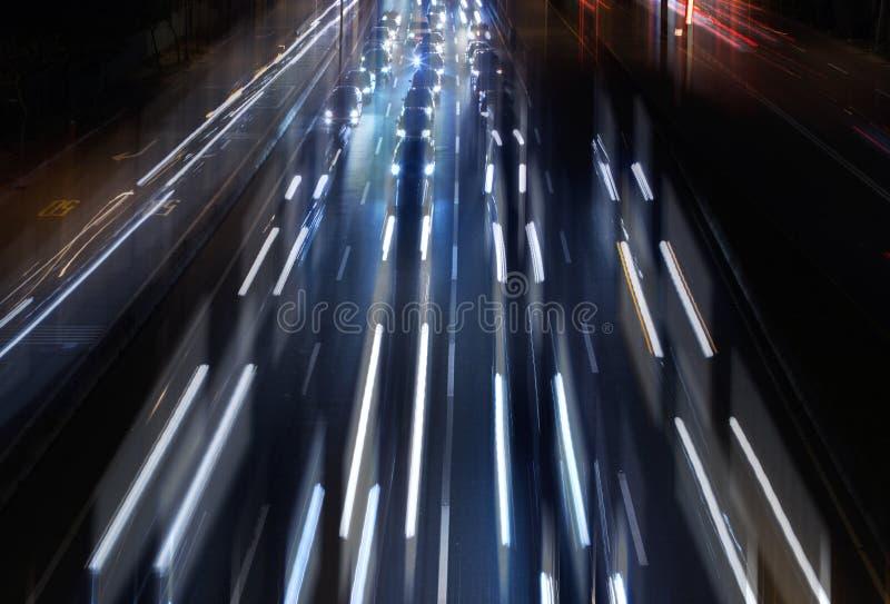 City traffic night scene. royalty free stock image