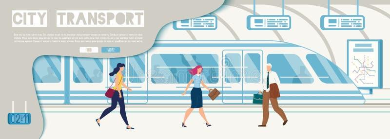 City Transport Company, sito Web di vettore di servizio illustrazione di stock