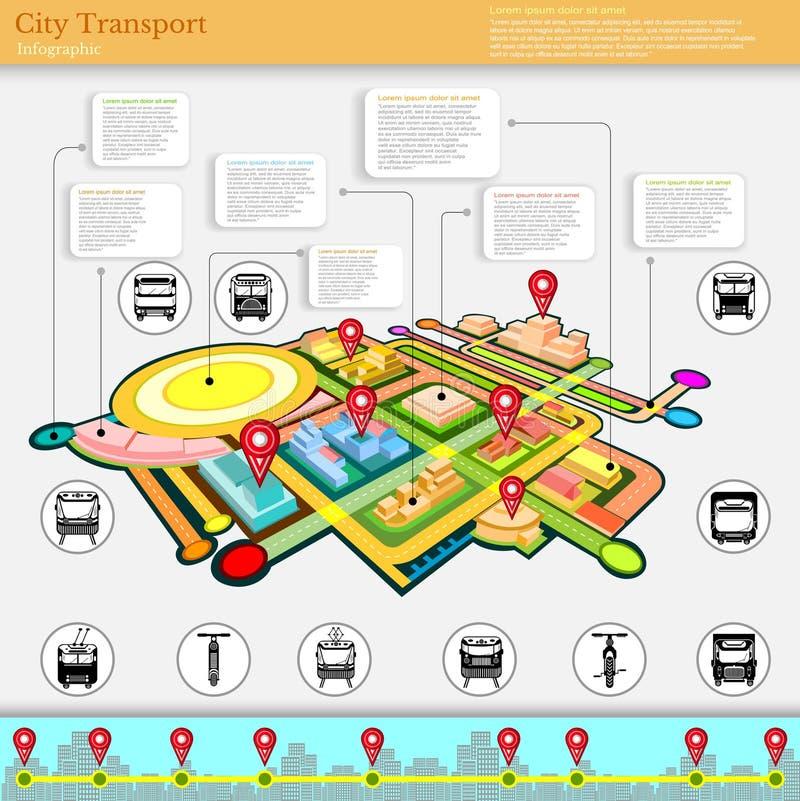 City transport infographic royalty free illustration