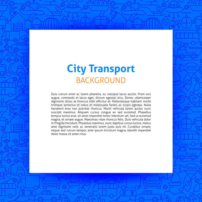 City Transport Paper Template royalty free stock photos