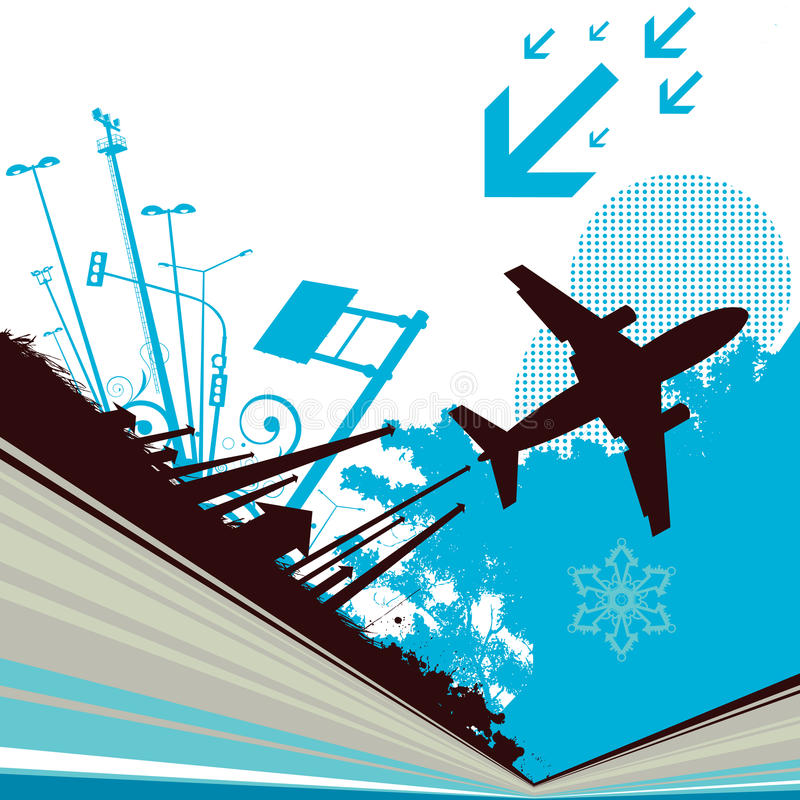 City and transportation stock illustration