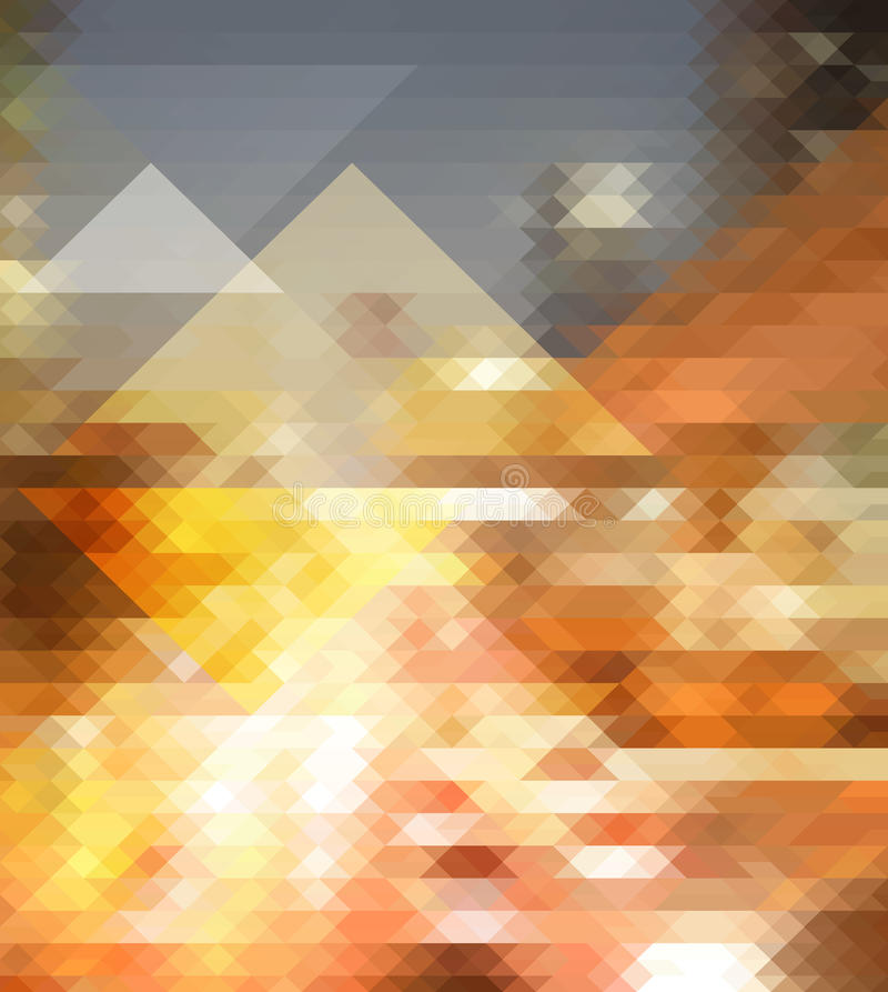 City Triangle Background Stock Vector