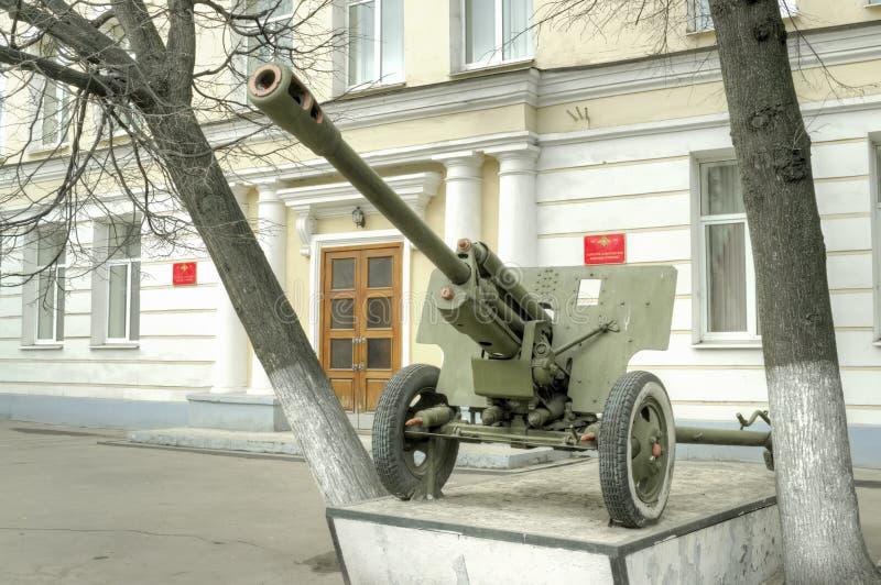 City Tver. Kalinin Suvorov Military School. TVER, RUSSIA - April 04,2014: Federal state educational institution Tver Suvorov Military School of the Ministry of stock photos