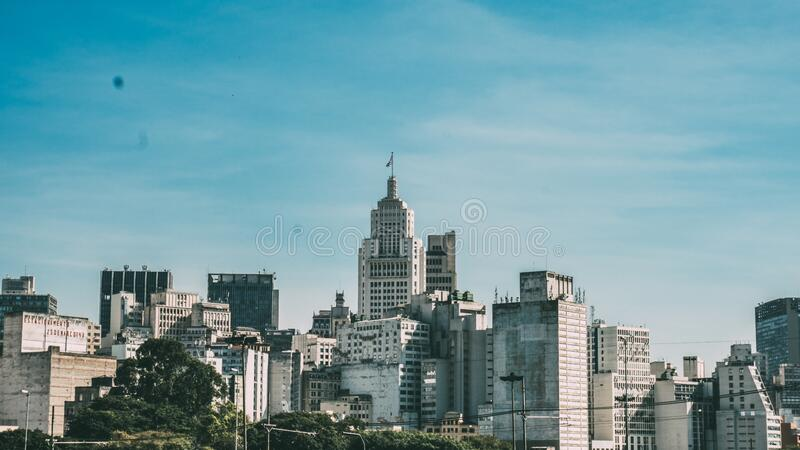 City Under Blue Cloudy Sky during Daytime stock photo