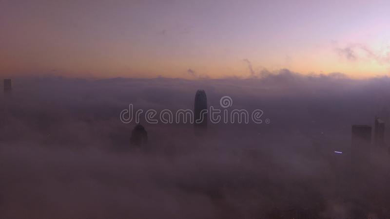 City under the Sea of clouds royalty free stock images