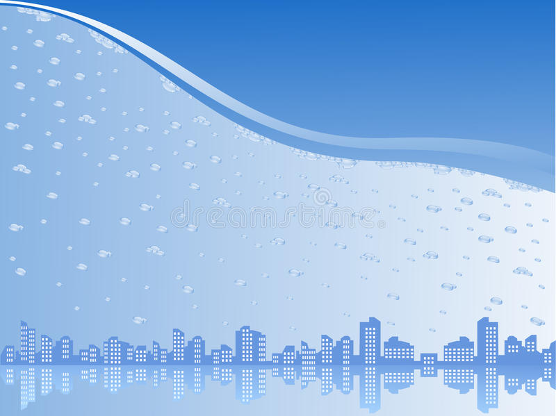 Download City under water stock vector. Image of illustration - 18424165