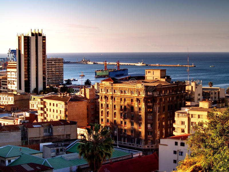 City Of Valparaiso Stock Photography