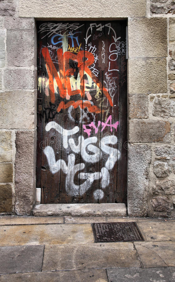 Download City vandalism stock photo. Image of spanish, exterior - 12824358