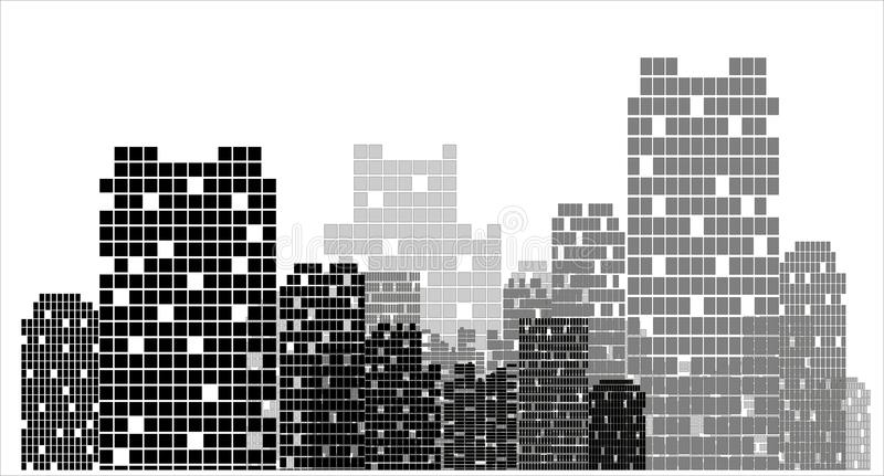 City vector. City . Building silhouette concept royalty free illustration