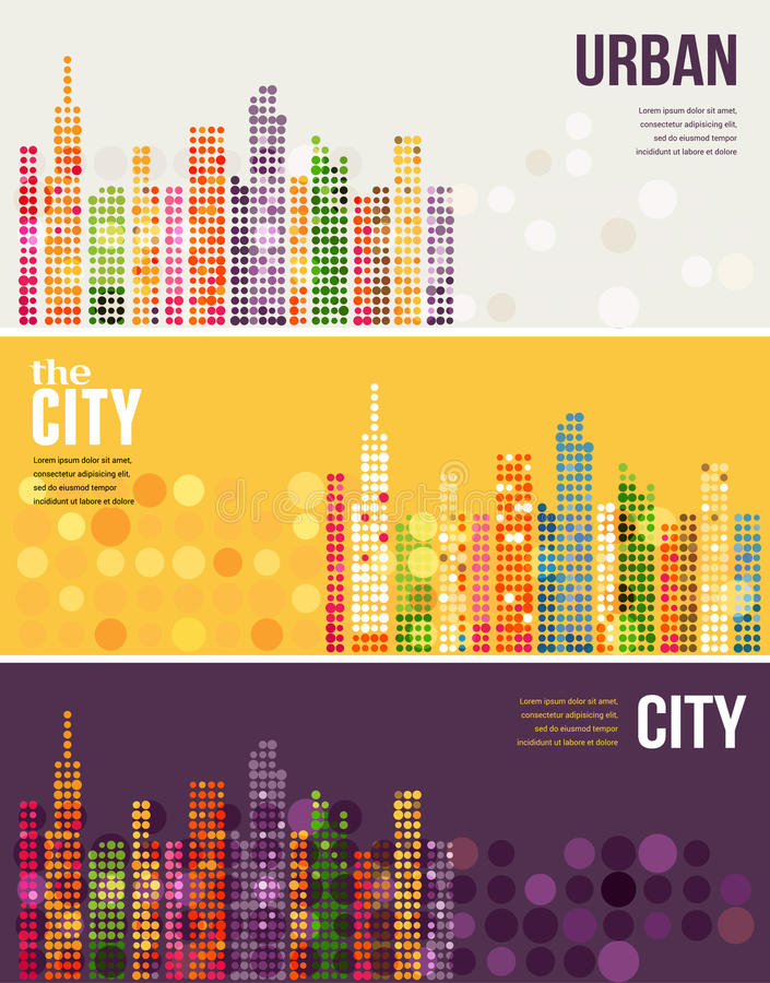 City - vector banners royalty free illustration