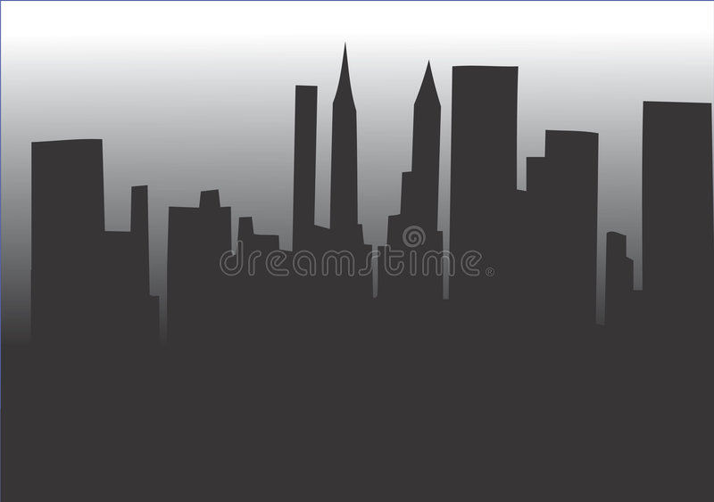 Download City vector skyline stock vector. Image of background - 4646904