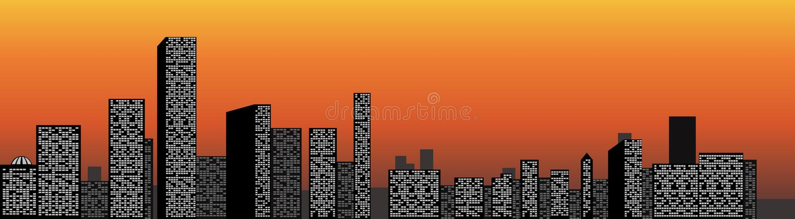 Download City view stock vector. Image of view, skyline, backgrounds - 21554830