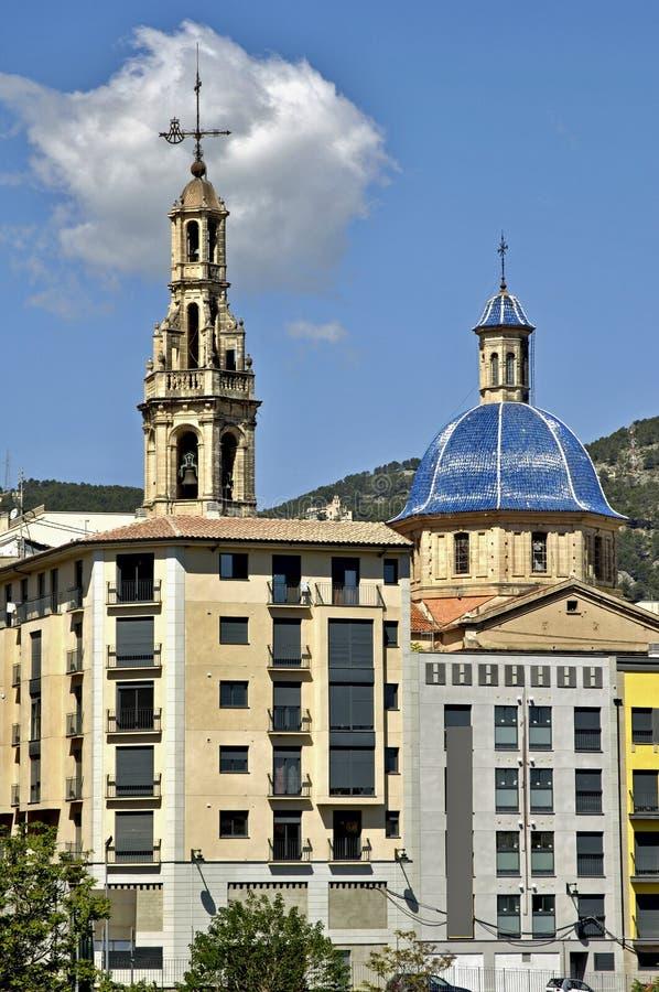 City view Alcoy, Alicante - Espanha imagem de stock royalty free