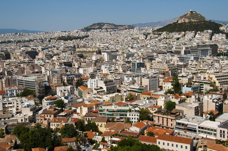 Download City view of athens stock image. Image of city, blue - 16704971