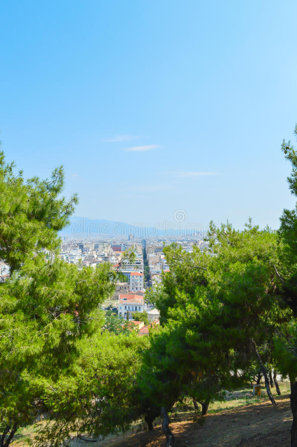 City view in Athens, Greece royalty free stock images
