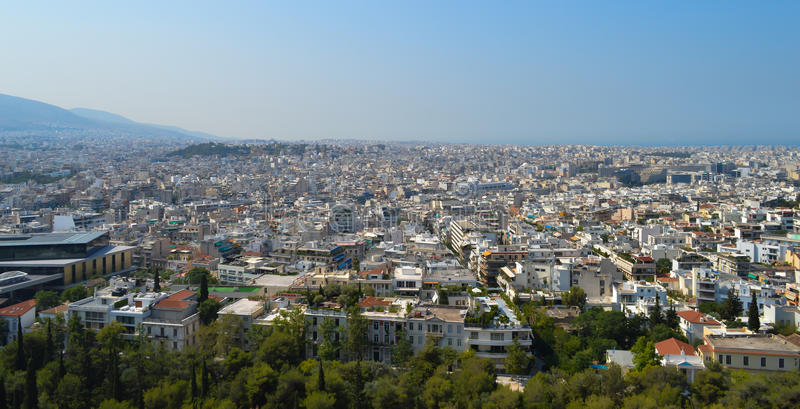 City view in Athens, Greece stock images