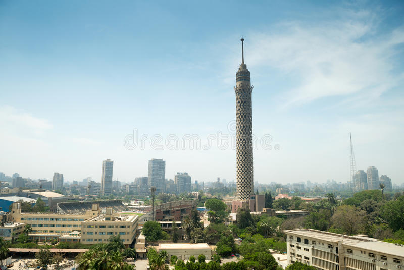 City view of Cairo tower royalty free stock photography