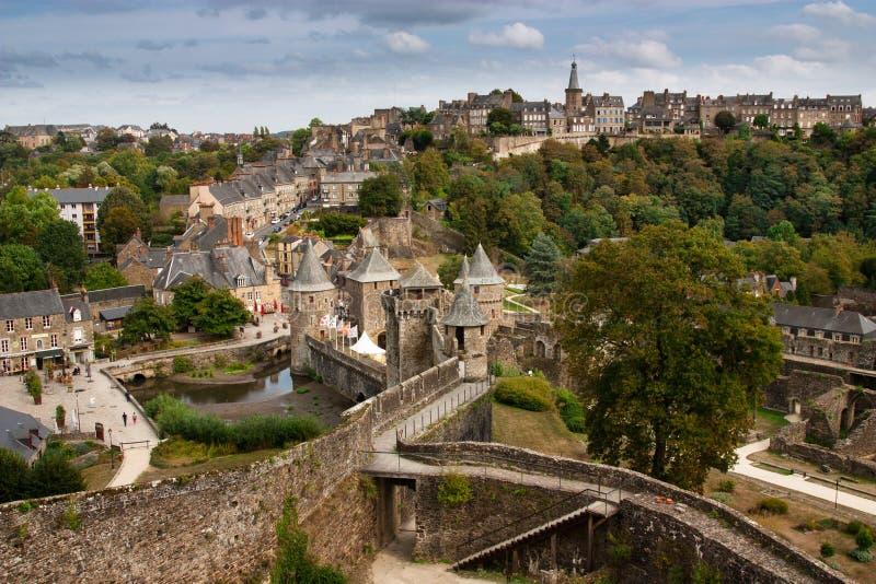 Chateau de Fougeres  Fougères, France royalty free stock images