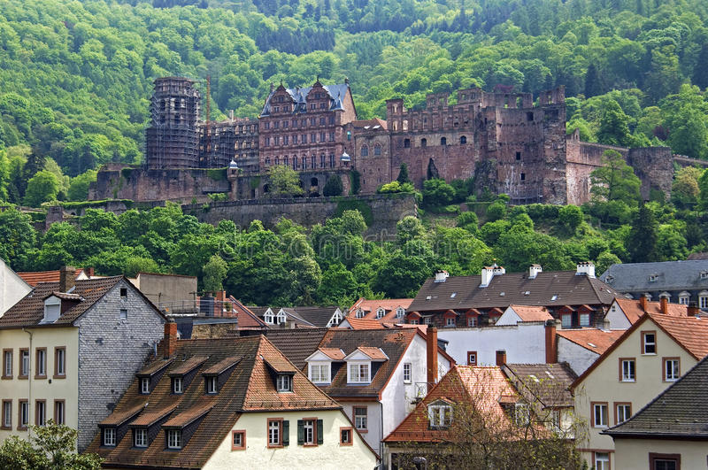 City View Of Heidelberg With Ancient Castle Stock Photo Image of