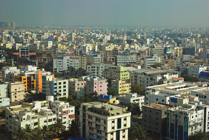 City View of Hyderabad. Around HITECH City area royalty free stock photos