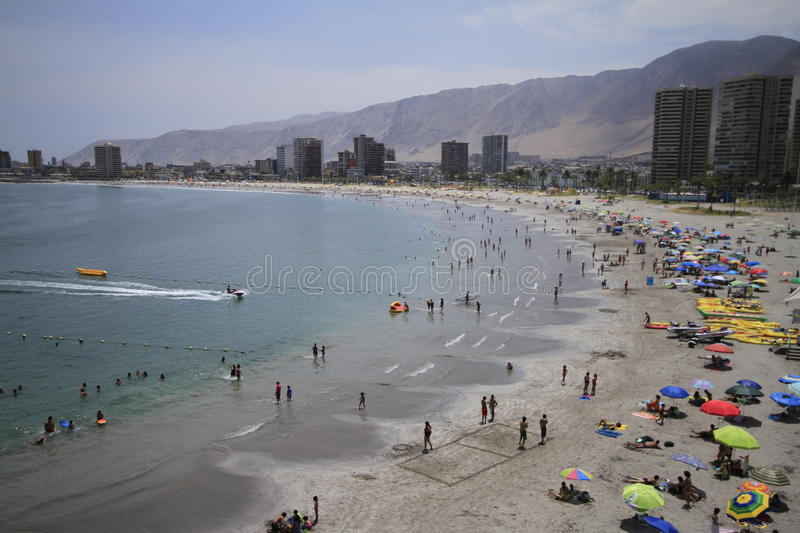 City view of Iquique, Chile stock images