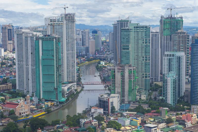 City view of Manila. MANILA , PHILIPPINES - NOV 22 : City view of Manila Philippines from building in Makati on November 22 2018.  Manila is the most densely royalty free stock photo