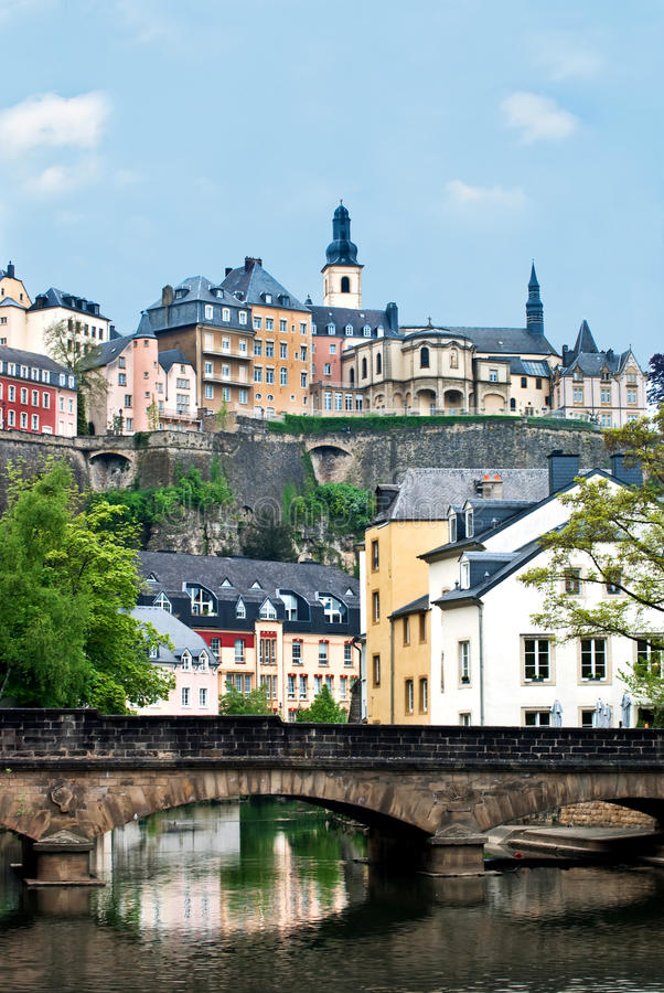 Free City View Of Old Town Luxembourg Stock Image - 13847261