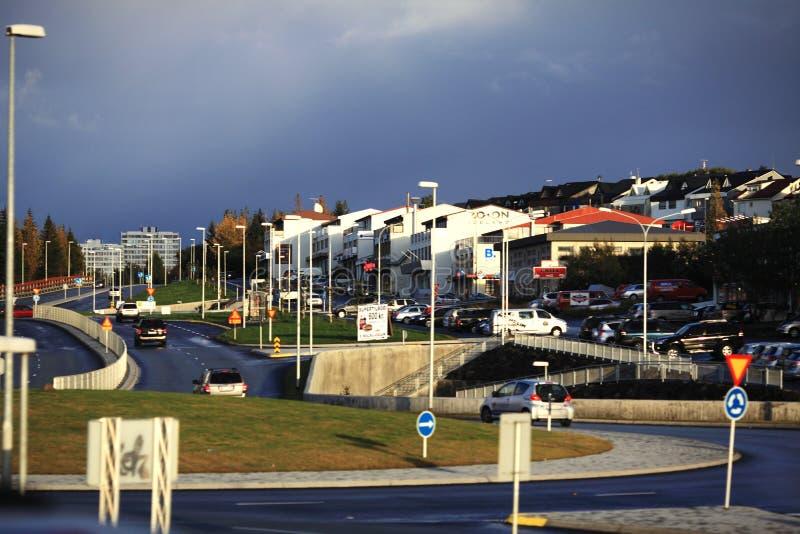City view of Reykjavik royalty free stock image
