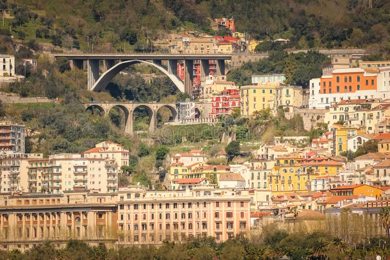 City view. Salerno. Italy. View of Salerno. Salerno. Italy stock photography