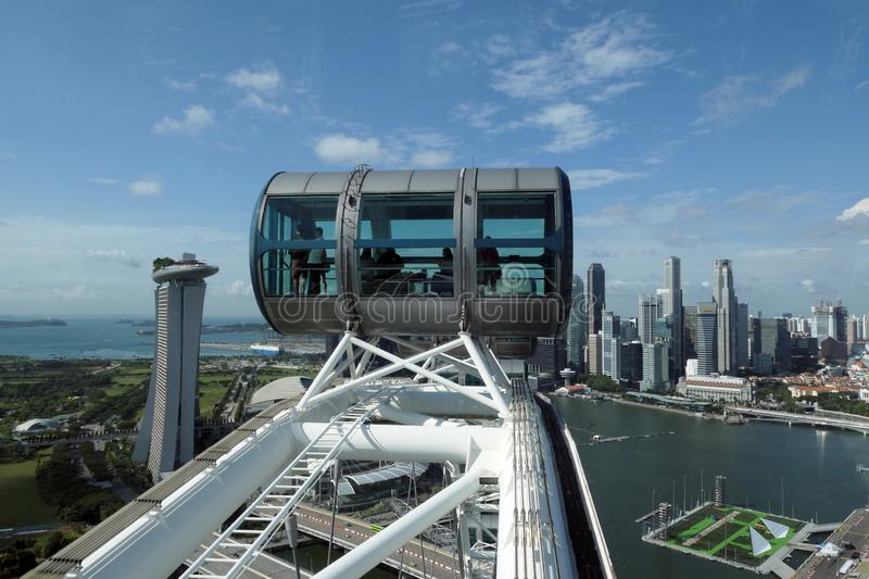 City view from Singapore flyer. City view with Singapore flyer in blue sky royalty free stock photography