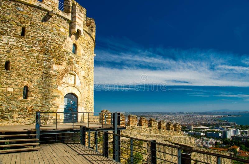 City view from Trigonion tower, Thessaloniki, Macedonia, Greece royalty free stock photo