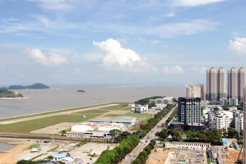 The City view of zhuhai stock images
