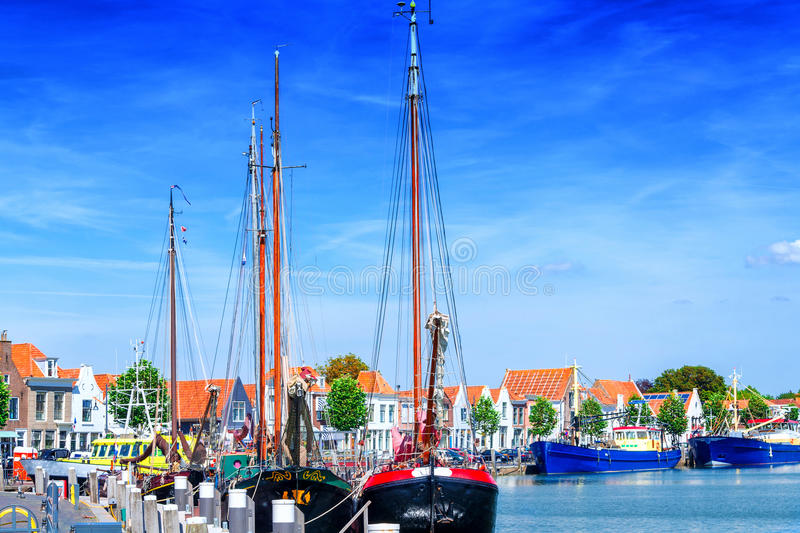 City View from Ziereksee. Province of Zeeland, The Netherlands stock photos