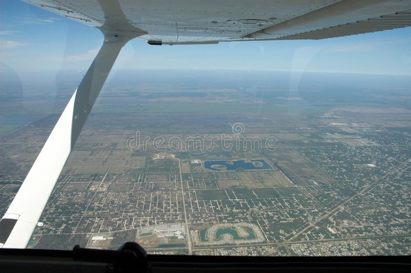 Download City viewed from aircraft stock photo. Image of down - 12318992