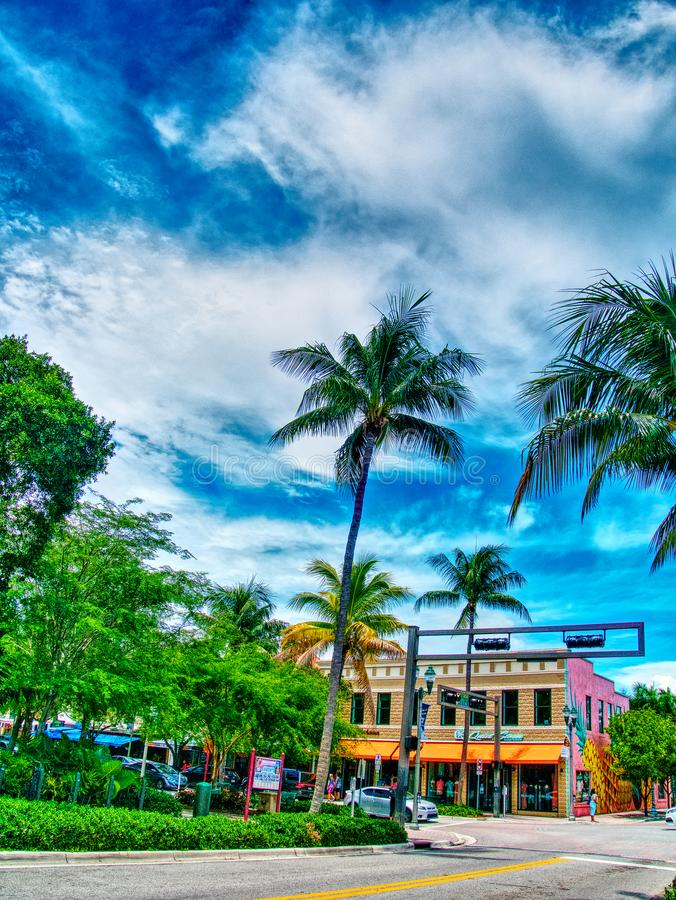 City Views from Downtown Delray stock photos