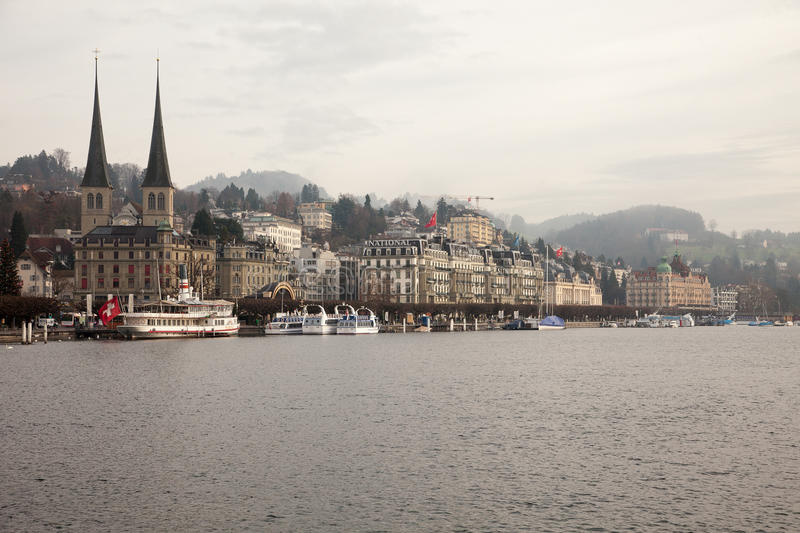 City views from downtown Luzern Lucerne, Switzerland.  stock photography