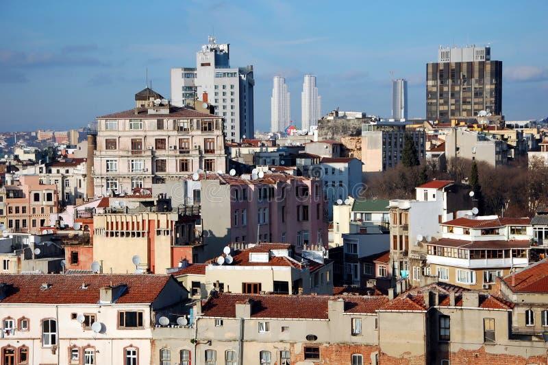 City views of Istanbul. ISTANBUL, TURKEY - JAN 18, 2011 - Istanbul, Turkey. View of the city from the Galata Tower stock photos