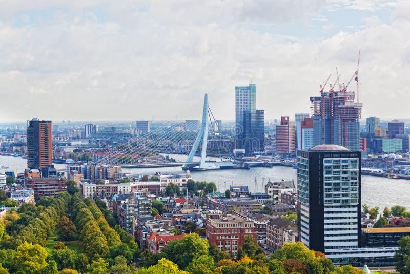 City views Rotterdam stock image