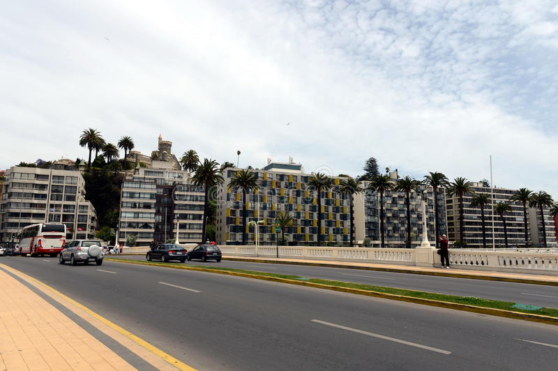 The city of vina del Mar, the administrative center of the homonymous municipality, part of the province of Valparaiso. stock images