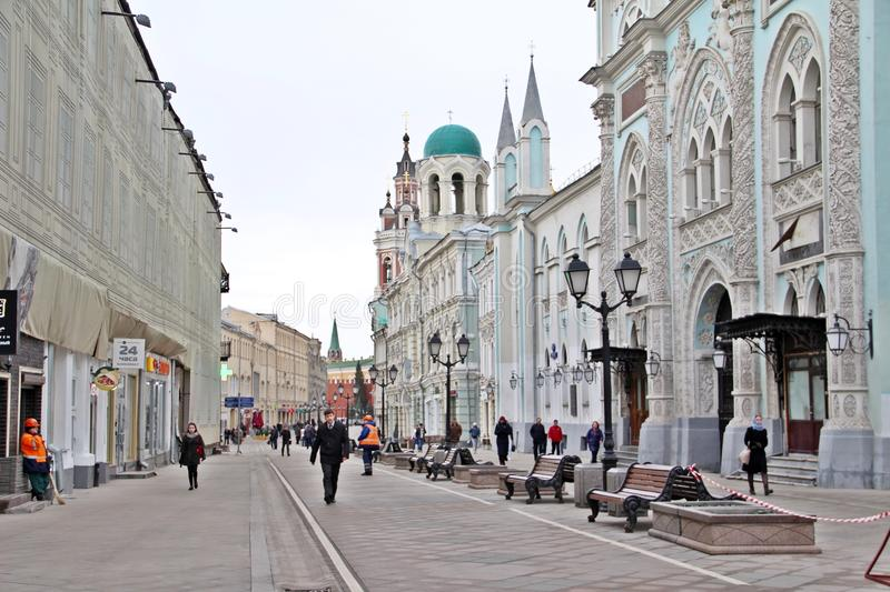 City walking street in Russia royalty free stock photos