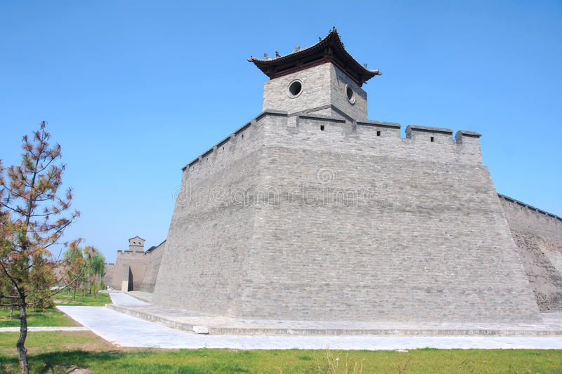 City wall. The close-up of Pingyao City Wall in Shanxi, China. The city wall was built in ancient Chinese Ming Dynasty royalty free stock images