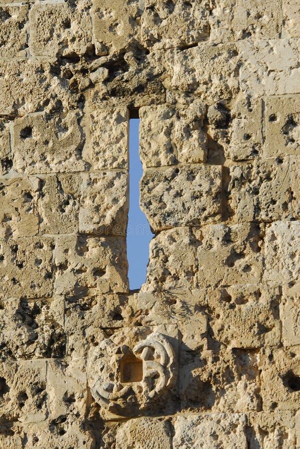 City wall. The historical Jerusalem city wall stock photography