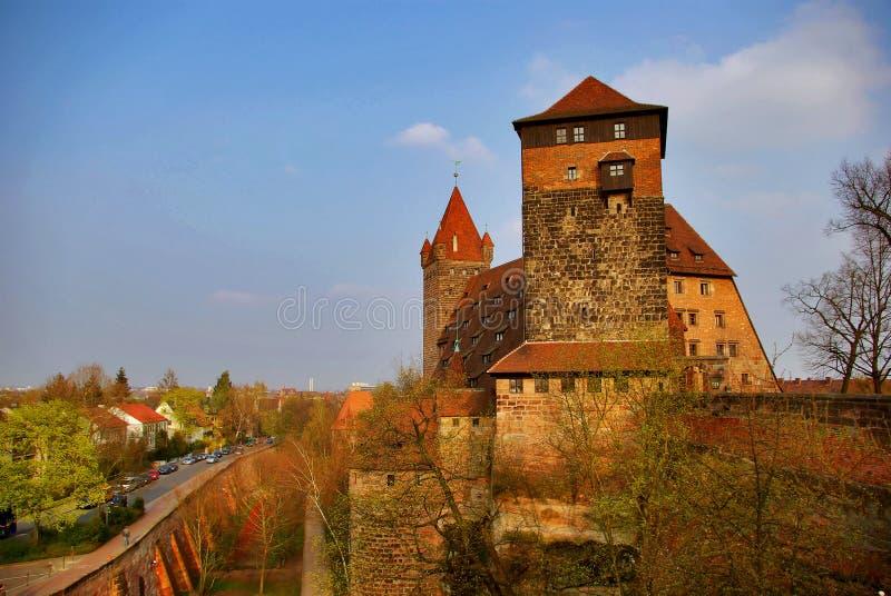 A City-Wall Castle - Nurnberg, Germany. A City-Wall Castle - old town, Nurnberg, Germany, 2007 stock images