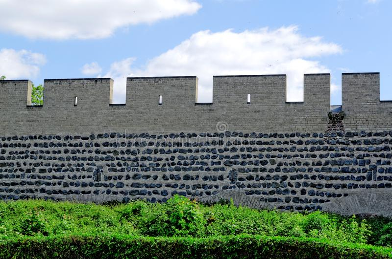 City wall of cologne. The medieval city wall of cologne stock image
