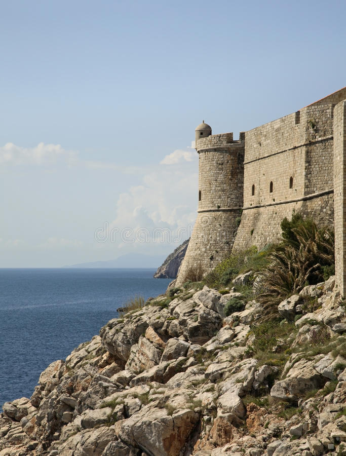 City wall in Dubrovnik. Croatia stock images