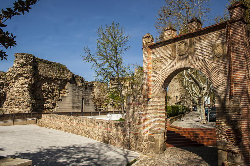 Download City Wall And Gate Seville, Talavera De La Reina, Toledo, Spain Stock Photo - Image: 32031936