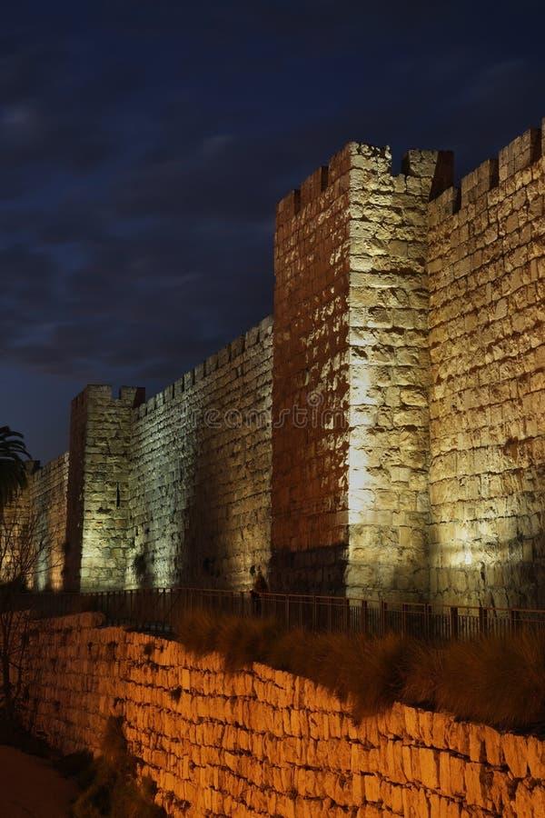 City wall in Jerusalem. Israel royalty free stock photo